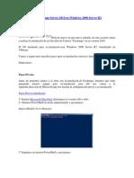 Instalación de Exchange Server 2010 en Windows 2008 Server R2