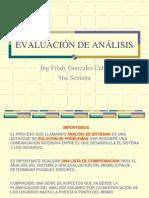 Evaluacion Del Analisis