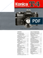 Konica T4 Manual