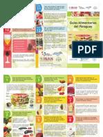 Nuevo Triptico Guias Alimentarias 2013