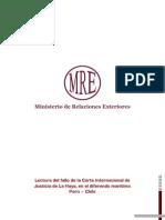 Lectura del fallo de la Corte Internacional de Justicia de La Haya, en el diferendo marítimo Perú – Chile