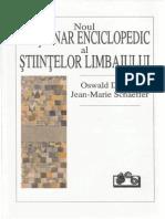 Ducrot Si Schaeffer Dictionar Enciclopedic Al Stiintelor Limbajului