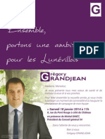 2014 - Tract Lancement Campagne
