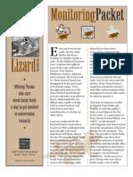 Texas Horned Lizard TPWD Packet