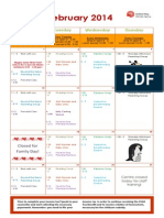 Jessie's - February 2014 Calendar