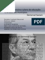 Sistema de ensino e plano de educação