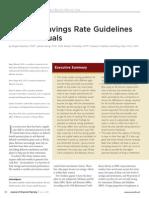 National Savings Guidelines