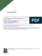 LUBATKIN - Towars Reconciliations of Market Performance