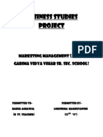 Bst. Project Marketting Management