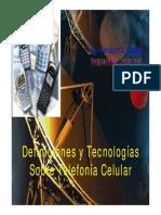 1) Definiciones y Tecnologías de Celulares