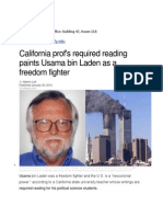 Emmit Evans - California Prof's required reading paints Osama Bin Laden as a Freedom Fighter.docx