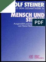 RUDOLF  STEINER - TTB 16 - MENSCH  UND  STERNE