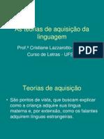 As Teorias de Aquisicao Da Linguagem