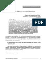 Teoria de La Nulidad en Derecho Administrativo