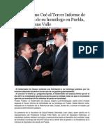 15-01-2014 NSS Oaxaca - Asiste Gabino Cué al Tercer Informe de Actividades de su homólogo en Puebla, Rafael Moreno Valle