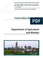 State Comptroller Thomas DiNapoli's audit of Department of Agriculture and Markets inspections