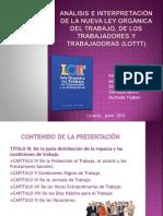 LAMINAS DE EXPOSICIÓN - LOTTT