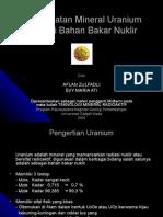 Pemanfaatan Uranium Sebagai Bahan Bakar Nuklir