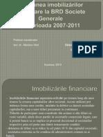 Gestiunea imobilizărilor financiare la BRD Societe Generale