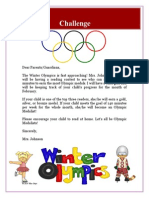 olympic reading parent letter