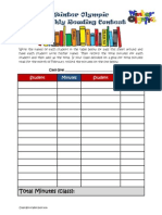 winter olympic reading student chart