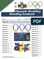 winter olympics reading log
