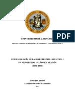 Epidemiología de la Diabetes Mellitus Tipo 1 en Menores de 15 años en Aragón (1991-2010).pdf
