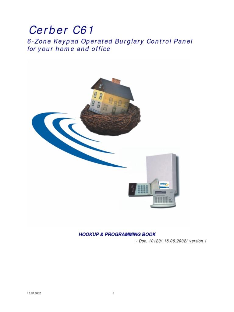 Cerber61 Led Security Alarm Telephone C61 Wiring Diagram