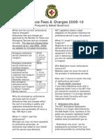 Ambulance Fees Charges FAQ v8 July 2009
