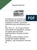 Reseña histórica del atletismo