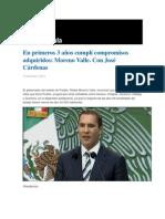 15-01-2014 Grupo Fórmula - En primeros 3 años cumplí compromisos adquiridos, Moreno Valle. Con José Cárdenas