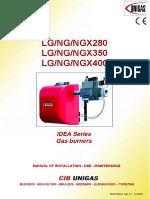 Cib Unigas LG NG NGX 280 350 400 Manual | Combustion | Fuel Oil on
