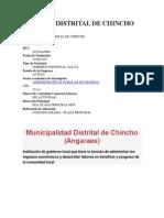 Concejo Distrital de Chincho