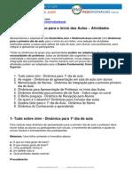 Dinamicas Para o Inicio Das Aulas Atividades Ludicas Esoterikha.com Redemotivacao.com.Br
