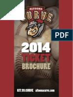 2014  Altoona Curve Ticket Brochure