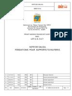 Note de Calcul Support Tuyautrie Execution