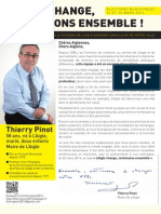 Lettre de candidature de Thierry Pinot, maire de L'Aigle, aux Aiglonnes et aux Aiglons