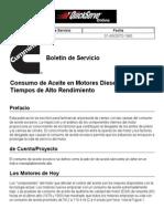 Consumo de Aceite en Motores Diesel de 4 Tiempos de Alto Rendimiento