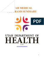 Utah Medical Programs Summary, January 2014