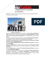 15-01-2014 Sexenio Puebla - Moreno Valle destina más de 3 mmdp a infraestructura educativa
