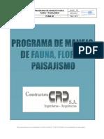 Pr-ma-08 Programa de Manejo Fauna, Flora y Paisajismo