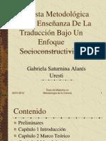 Propuesta Metodológica Para La Enseñanza De La Traducción