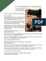Cómo reducir el abdomen en 10 minutos (Rutina)
