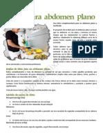 Dieta Para Abdomen Plano