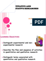 Quantitative and Qualitative Researches