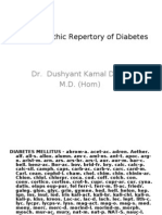 Homoeopathic Repertory of Diabetes