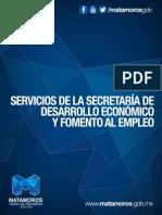 Servicios de la Secretaría de Desarrollo Económico y Fomento al Empleo.