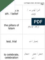 Religion_Key Vocab_Cards