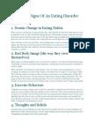 7 Warning Signs of an Eating Disorder