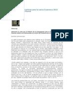 Carta a Los Seminaristas Para La Santa Cuaresma 2013